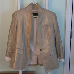 J. Crew tan and gold blazer